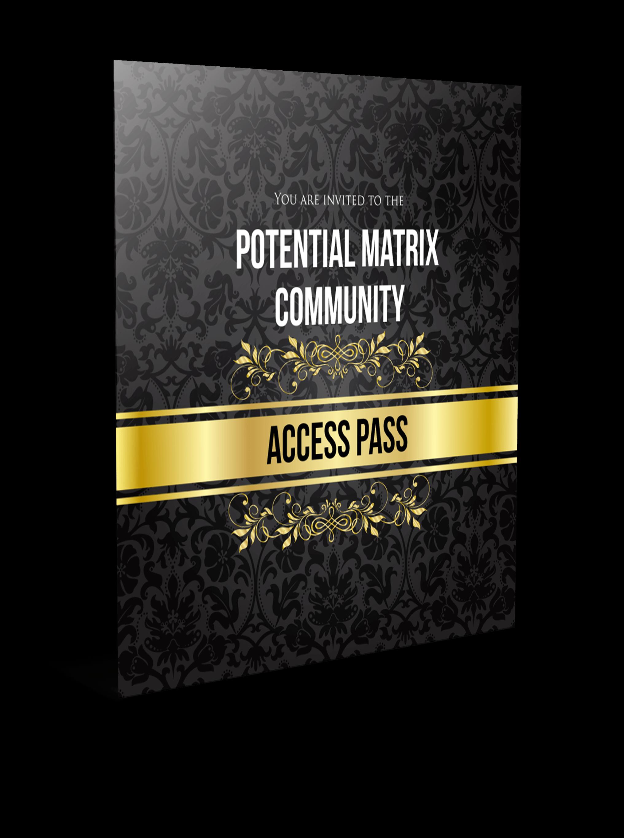 Purchase potential matrix exclusive invitation to potential matrix community stopboris Image collections